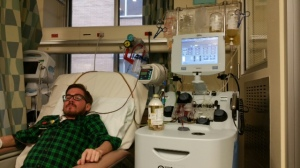 Dan receiving Plasmapheresis