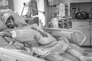 Recovering in ICU from second double lung transplant